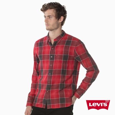 格紋襯衫 男裝 單口袋 - Levis