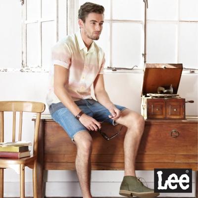 Lee 短袖襯衫 宛如夕陽漸層色-男款(粉紅)