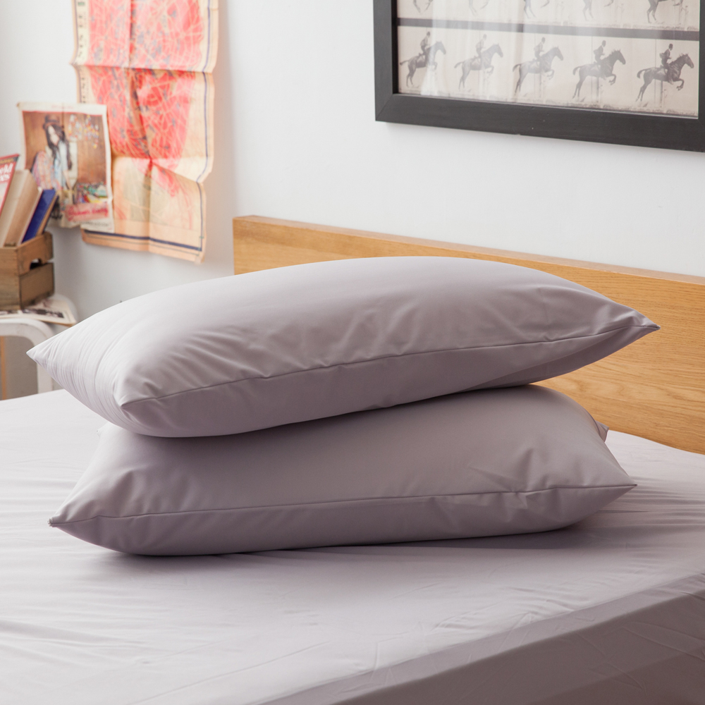 LAMINA  高科技膜防蹣防水枕用保潔墊-2入(灰)