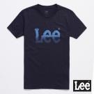 Lee 短袖T恤 漸層logo圓領 男 深灰藍