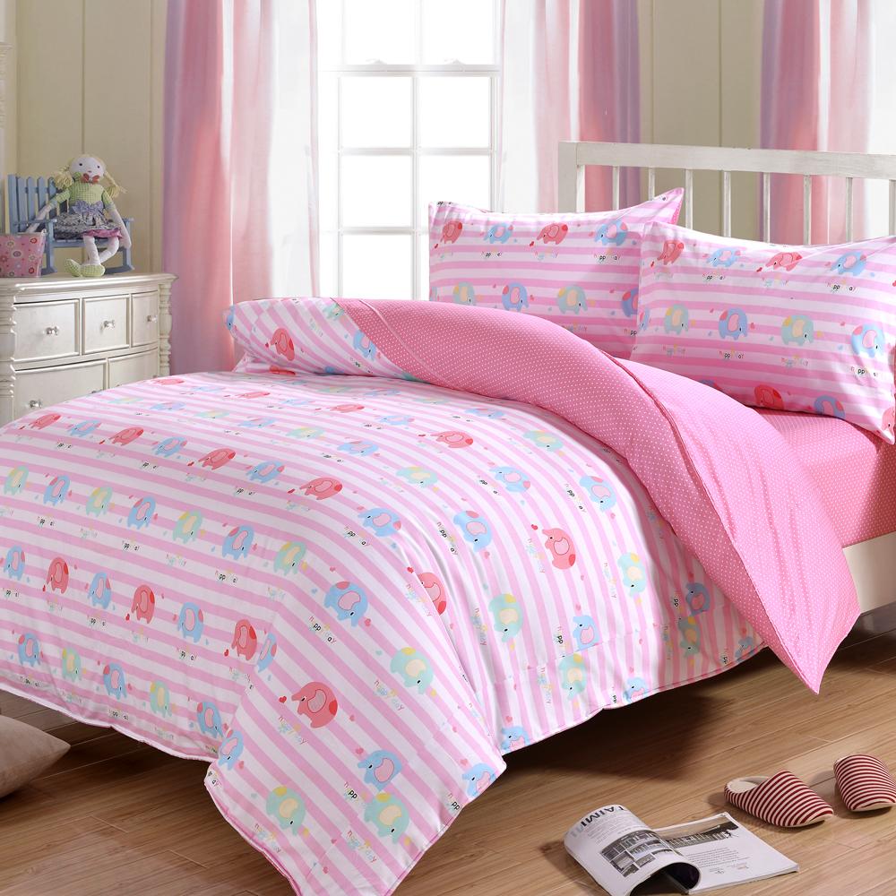 DON小象精靈 加大四件式純棉兩用被床包組
