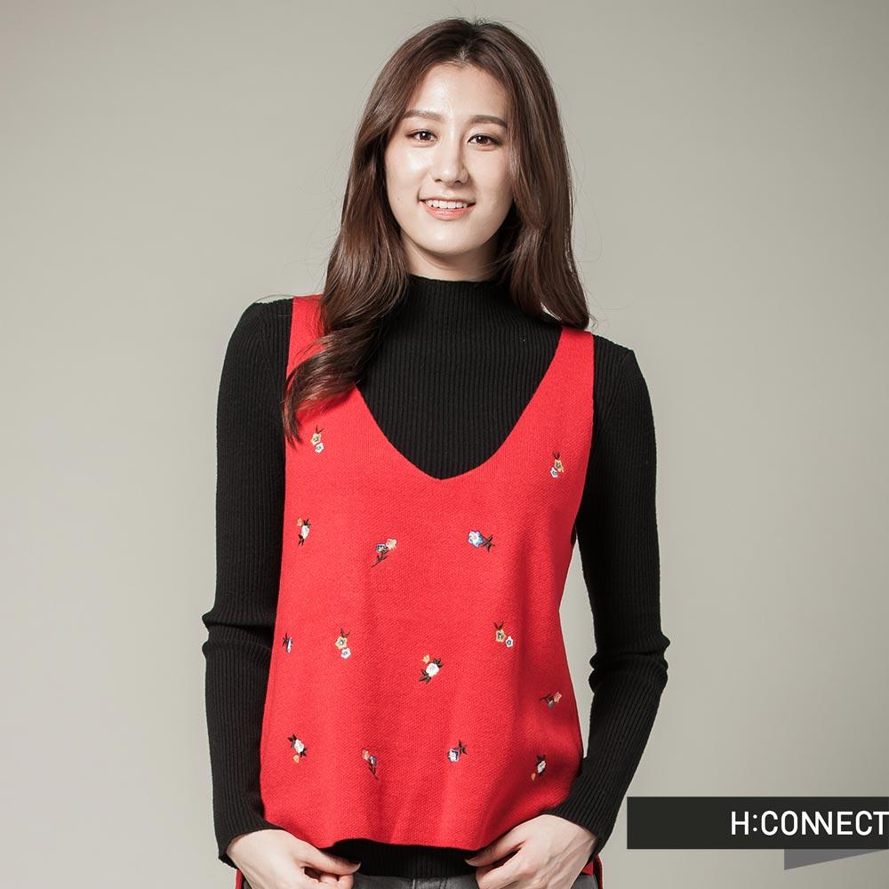 H:CONNECT 韓國品牌 女裝 點點花兒背心 - 紅