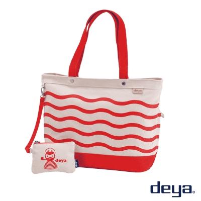 deya 海洋水手 MIT帆布托特包 (大)  水手紅