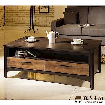 日本直人木業-BRAC層木功能茶几(後面有兩張小椅子可使用)