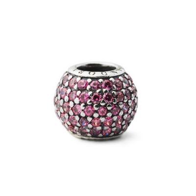 Pandora 潘朵拉 純銀墜-滿鑲粉紅鋯石球
