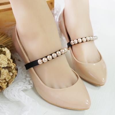 足的美形 優雅珍珠百搭束鞋套(1對)