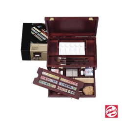 ROYAL TALENS 皇家泰倫斯 - 林布蘭系列 塊狀水彩 (藝術家木盒組)