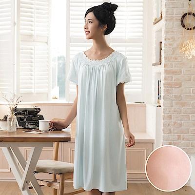 華歌爾睡衣 睡眠研究系列 薄荷紗 M-L 短袖裙裝(橘)