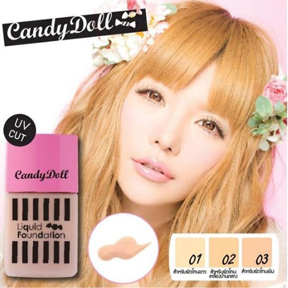 KOJI Candy Doll糖果瓷娃娃奇肌柔潤粉底液30g (三色)