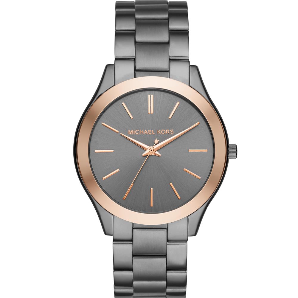 Michael Kors MK 都會時尚經典腕錶-灰/44mm