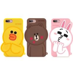 GARMMA Line Friends iPhone 8/7/6S/6+ 立體矽膠果凍套