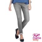 Mamaway 孕期刷破窄管牛仔褲(共二色)