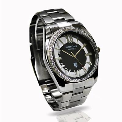 Arseprince不朽神話銀鑽中性錶 –黑銀