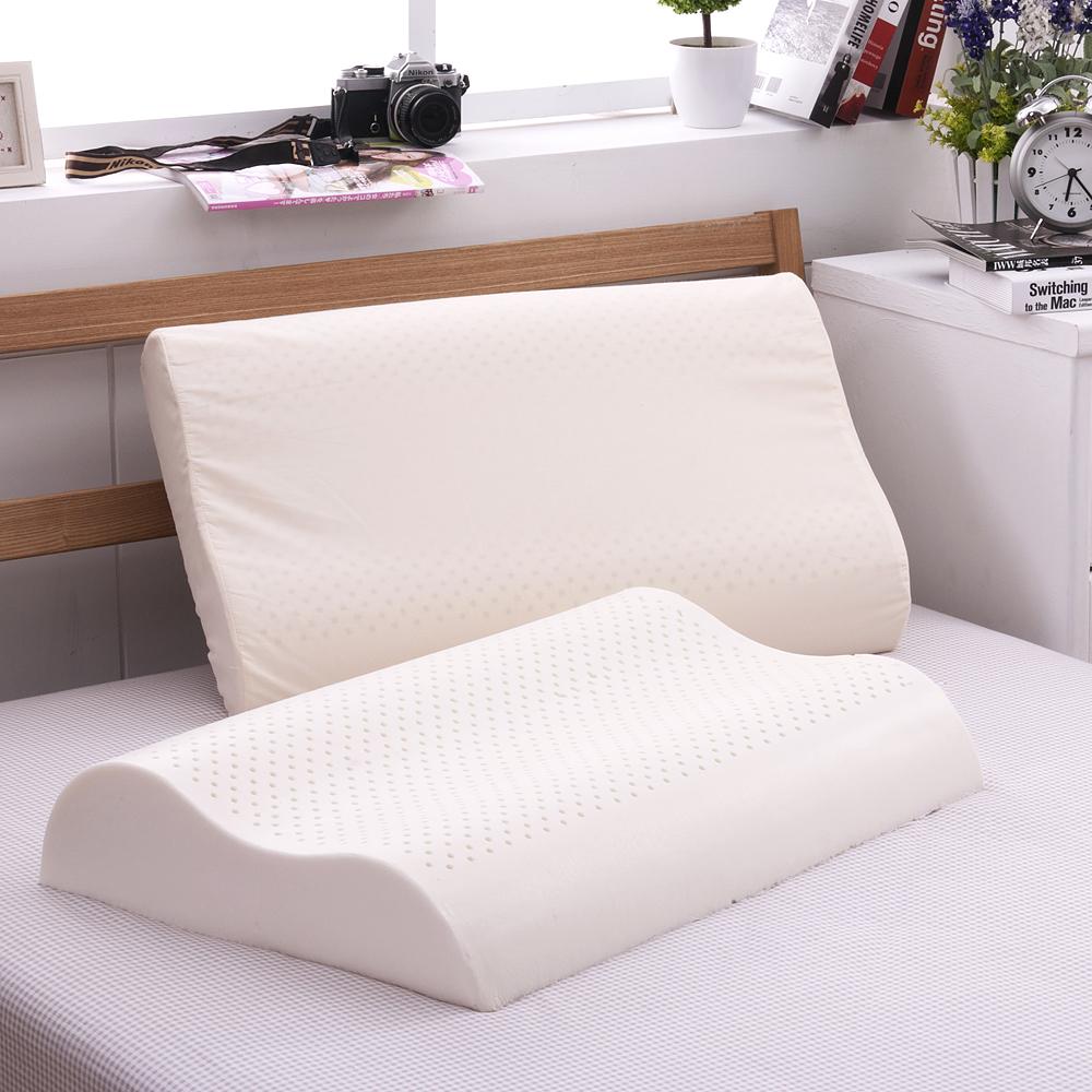義大利Famttini-舒雅幽境 大尺寸AA級波浪工學天然乳膠枕-1入
