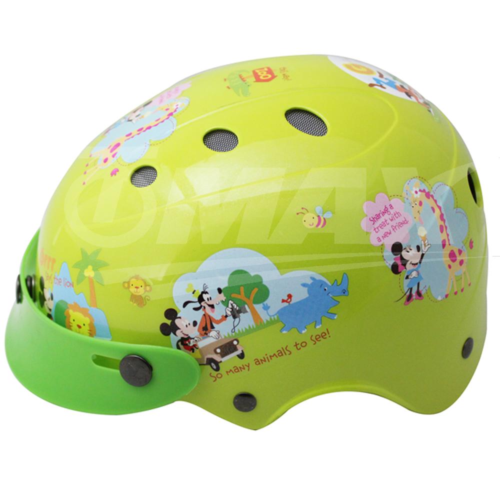 花米奇自行車兒童可調整式安全帽-黃色-快