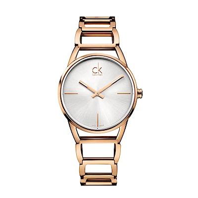 CALVIN KLEIN Stately璀璨系列鍍PVD玫瑰金優雅女錶-34mm