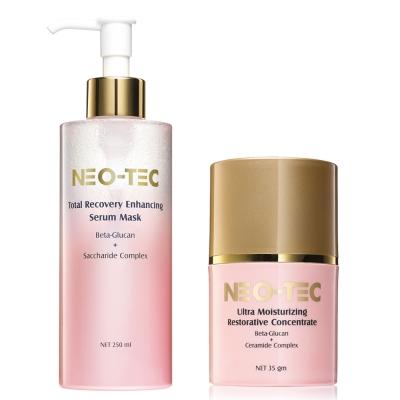 NEO-TEC妮傲絲翠 敏弱肌專用葡聚醣保濕組(葡聚醣精華面膜+葡聚醣乳霜)