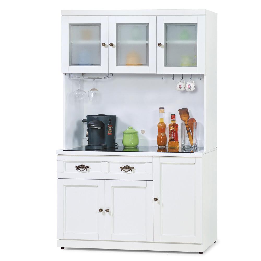 品家居 珍妮佛3.8尺收納餐櫃組合-114.2x40.6x197.8cm-免組