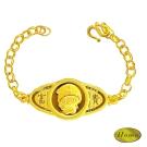 家家金品-富貴黃金手鍊滿月禮(約1.0錢)