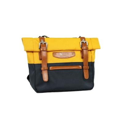 estilo - 時尚玩色系列 撞色設計 小型斜背包 - 亮黃