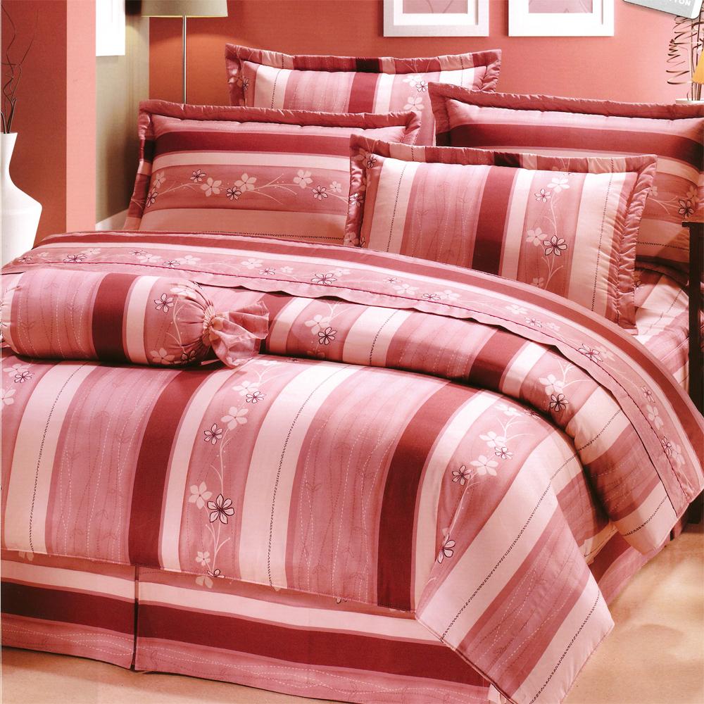真愛 台灣製加大五件式純棉床罩組