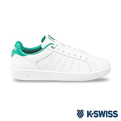 K-Swiss Clean Court CMF休閒運動鞋-女-白/綠