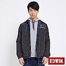 EDWIN 包浩斯雙面穿極簡舖棉外套-男-黑灰