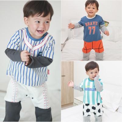 baby童衣 運動造型假四件長袖連身衣 70071
