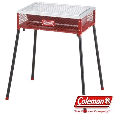 美國-Coleman-不鏽鋼兩段式輕量烤肉箱-紅-露營-野炊-烤肉爐-烤肉架公司貨