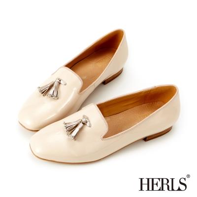 HERLS-氣質首選 內真皮造型流蘇樂福鞋-香繽米