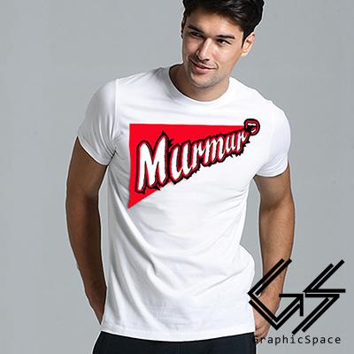 MURMUR碎碎念美式磨毛水洗T恤 (白色)-GraphicSpace