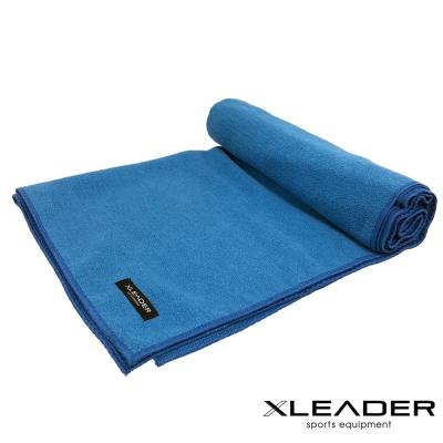 Leader X 超細纖維吸汗止滑瑜珈鋪巾 藍色 - 急
