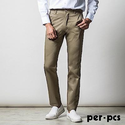 per-pcs 高質感棉料彈性休閒褲_卡其(716168)