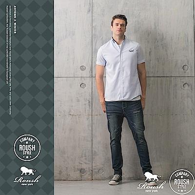 ROUSH 基本款牛津條紋短袖襯衫 ( 3 色)