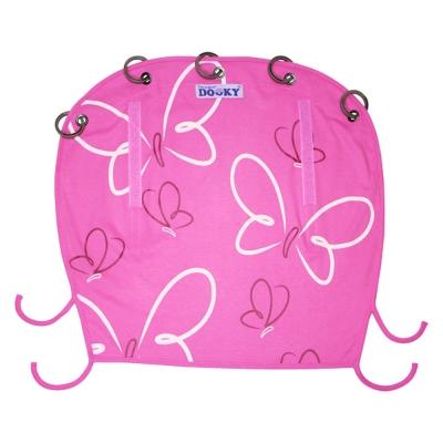 荷蘭Dooky 抗uv萬用嬰兒車遮陽罩/ 粉紅蝴蝶