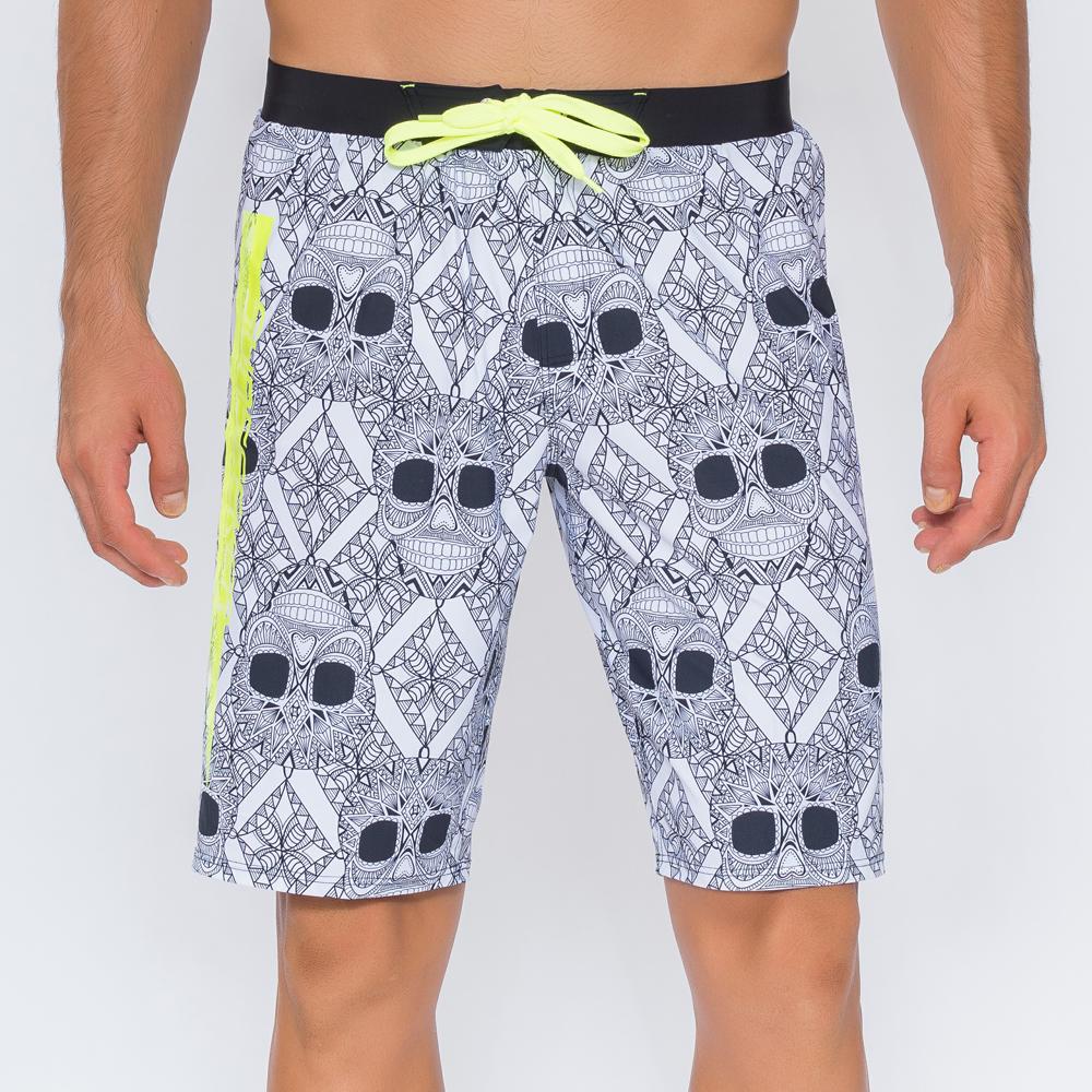澳洲Sunseeker泳裝男士快乾衝浪泳褲-螢光骷髏