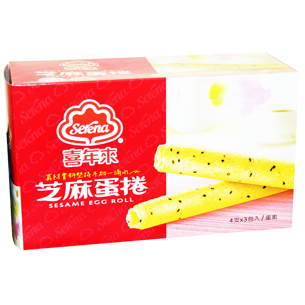 喜年來 芝麻蛋捲經濟包(192g)