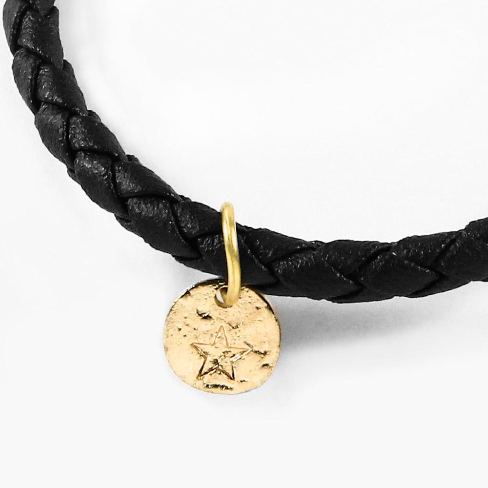 A1寶石  五芒金星-Endless混搭元素-仿真皮繩編織手鍊(含開光)