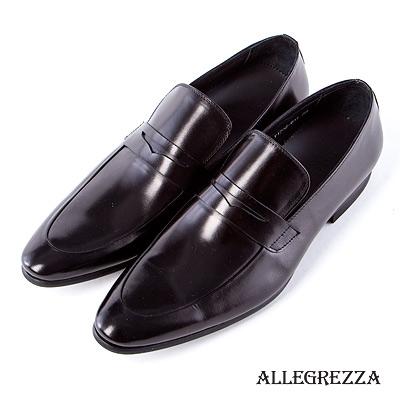 ALLEGREZZA.義式經典小牛皮樂福鞋-黑色