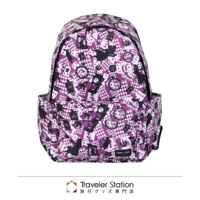 【HAPI+TAS】愛麗絲新型折疊後背包-粉色