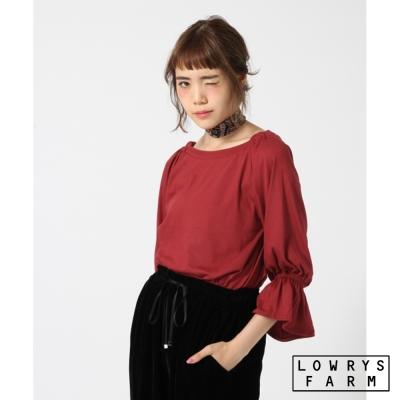 LOWRYS-FARM彈性2WAY露肩平口宮廷袖七