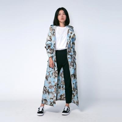 RAINSTORY藍調迷彩連身甜美雨衣(L號)