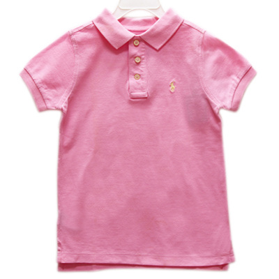 Ralph Lauren 女童經典短袖POLO衫-粉紅色(5歲)