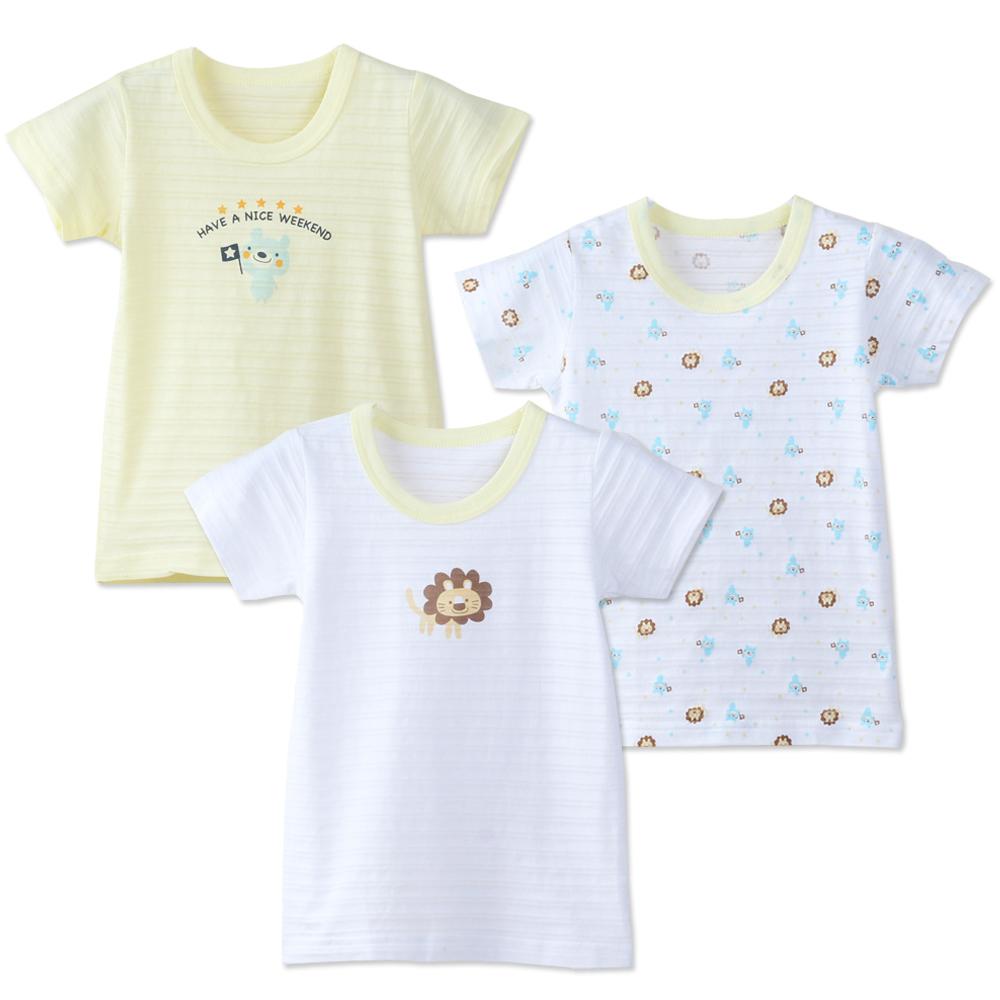 日本熱銷竹節棉短袖上衣內衣(3件入/組)
