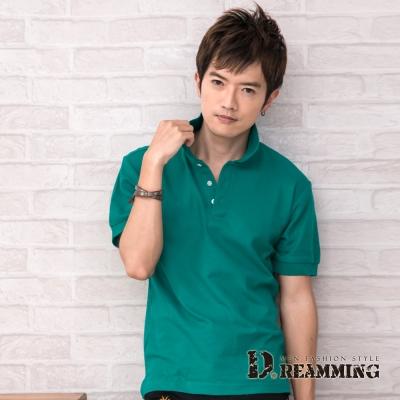 Dreamming 美式素面網眼短袖POLO衫-共三色