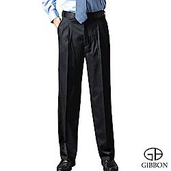 GIBBON 簡約防寒刷毛打摺西裝褲‧暗藍31-42