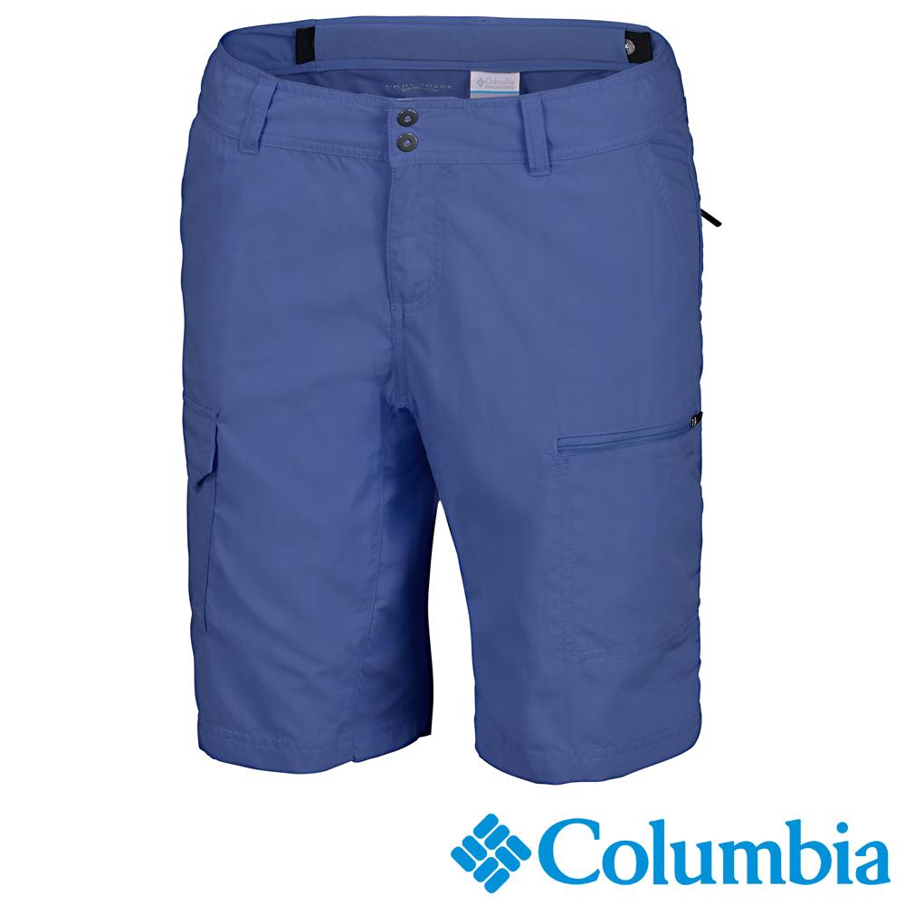 【Columbia哥倫比亞】女-快排防曬50短褲-藍色 UAL45960LB