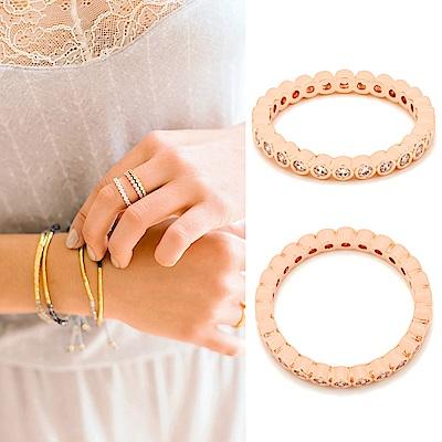 GORJANA CANDICE SHIMMER 整圈鑲圓鑽式設計 玫瑰金細版戒指