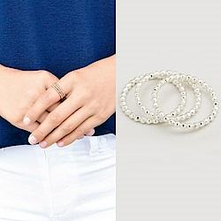 GORJANA 銀色豆豆戒指 細緻三環戒 可分開配戴 Marlow Set