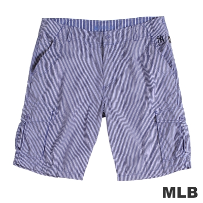 MLB-紐約洋基隊直紋休閒短褲-深藍(男)
